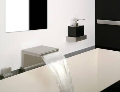 Badewannen armaturen wasserfall  Gessi Privatewellness Cascata für Badewanne und Dusche Rettangolo