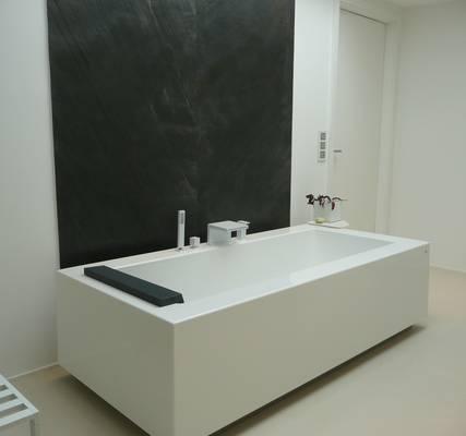 Freistehende badewanne eckig  Kos Grande Badewanne freistehend halbeinbau Einbau Rechteckwanne ...
