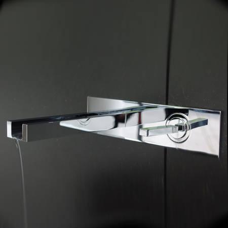 gessi miscelatore lavabo rettangolo cascata finitura cromo 30985 20497 30988 ebay. Black Bedroom Furniture Sets. Home Design Ideas