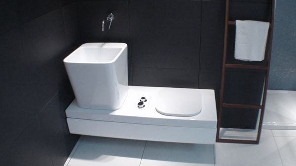 wc wc bidet kombination sitzbank in teakholz unsichtbares wc mit. Black Bedroom Furniture Sets. Home Design Ideas