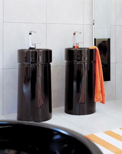 flaminia ceramica twin column s ulenwaschtisch. Black Bedroom Furniture Sets. Home Design Ideas